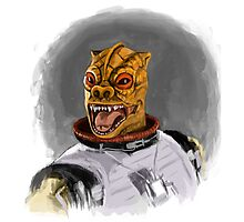 Bossk The Bounty Hunter Photographic Print