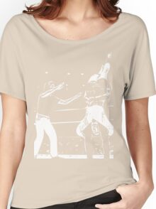 Jerry Lawler Piledriving Andy Kaufman Vector Women's Relaxed Fit T-Shirt