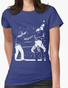 Jerry Lawler Piledriving Andy Kaufman Vector Womens Fitted T-Shirt