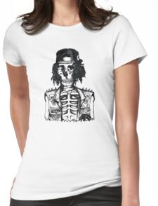 BORING SKULL Womens Fitted T-Shirt