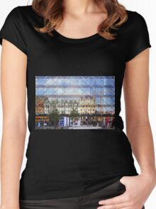 City Centre Reflections Copenhagen Women's Fitted Scoop T-Shirt