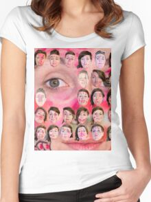 Make-up Performance Explortion Documentation Women's Fitted Scoop T-Shirt