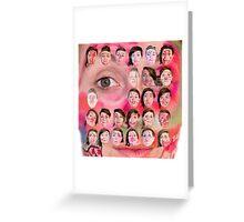 Make-up Performance Explortion Documentation Greeting Card