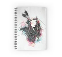 Water colour girl Spiral Notebook