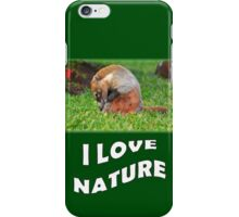 Badger - I love nature iPhone Case/Skin