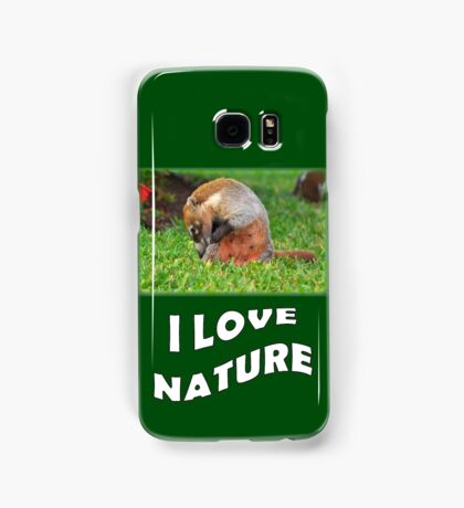 Badger - I love nature Samsung Galaxy Case/Skin