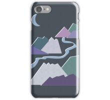 Geometric Flat Abstract Halftone Mountains Trendy Winter Colors iPhone Case/Skin