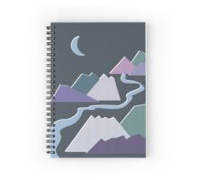 Geometric Flat Abstract Halftone Mountains Trendy Winter Colors Spiral Notebook