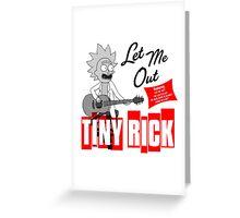 Tiny Rick Album Cover Greeting Card