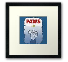 Paws Cat Parody Framed Print