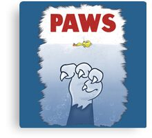 Paws Cat Parody Canvas Print