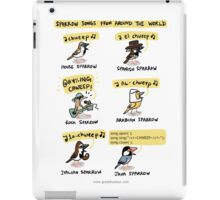 Sparrow Songs iPad Case/Skin