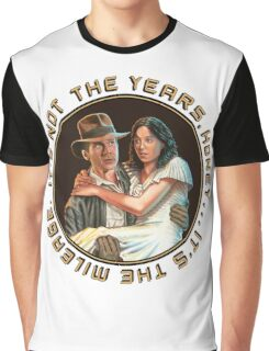 Indiana Jones - It's Not the Years, It's the Mileage. Graphic T-Shirt