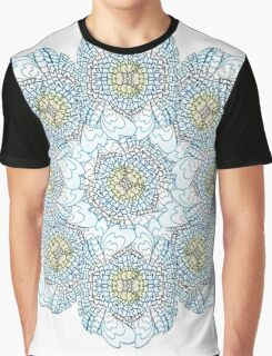 Experimental Buddha Flower Graphic T-Shirt