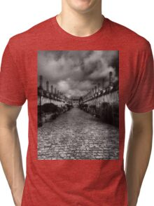 Vicar's Close Wells Somerset England Tri-blend T-Shirt