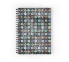Retro pattern old geometrical grunge textile print fabric background Spiral Notebook