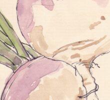 Sweet, delicate Turnips, Vegan delight - Botanical Sticker