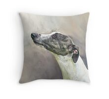 Whippet in Profile Throw Pillow