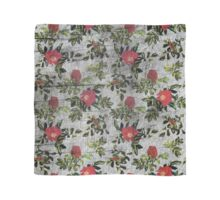 Vintage rose pattern on grey grunge print fabric textile background Scarf