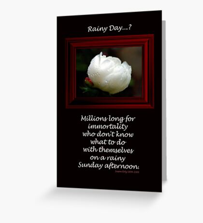 Thinking on a Rainy Day... Greeting Card