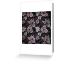 Vintage grunge floral pattern old retro print textile fabric background Greeting Card