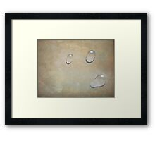 Dew drops on marble Framed Print