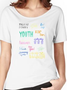 blue neighborhood doodles Women's Relaxed Fit T-Shirt