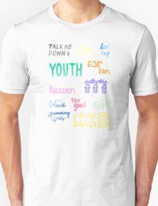 blue neighborhood doodles Unisex T-Shirt