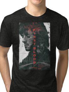 FIRST BLOOD  Tri-blend T-Shirt