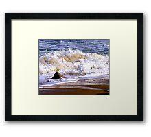 Tides frothy waves Framed Print
