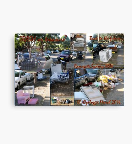 Annual Clean-up stirs emotions - memories.  Canvas Print