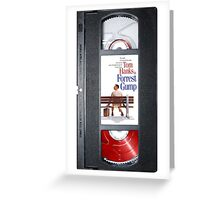 Forrest Gump vhs case Greeting Card