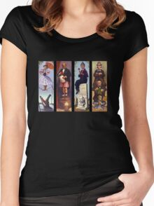 Haunted mansion all character Women's Fitted Scoop T-Shirt