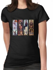 Haunted mansion all character Womens Fitted T-Shirt