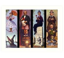 Haunted mansion all character Art Print