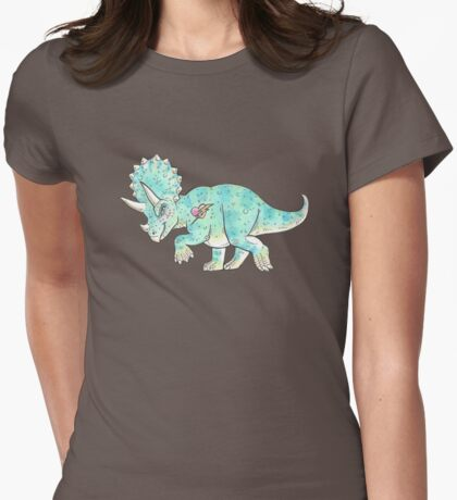 Sassy Triceratops Womens Fitted T-Shirt