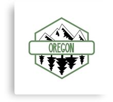 Oregon Tree/Mountian Badge Canvas Print