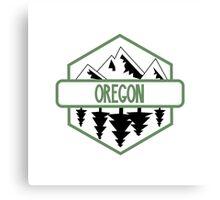 Oregon Tree/Mountian Badge Canvas Print