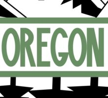 Oregon Tree/Mountian Badge Sticker