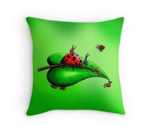 Lady Babies Throw Pillow