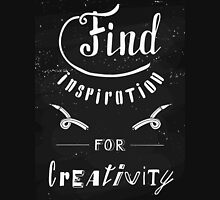 Find inspiration for creativity Womens Fitted T-Shirt