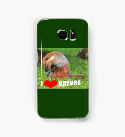 Badger - I love nature (heart) Samsung Galaxy Case/Skin