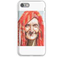 Lady with a smile, watercolor iPhone Case/Skin