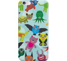 Cartoon monsters iPhone Case/Skin