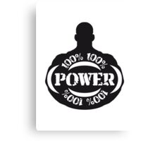 Cool 100% Power Guy Logo Canvas Print
