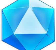 Blue D20 Dice by MonkeyKnot