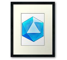 Blue D20 Dice Framed Print
