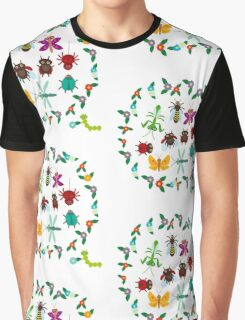 Funny insects circle Graphic T-Shirt