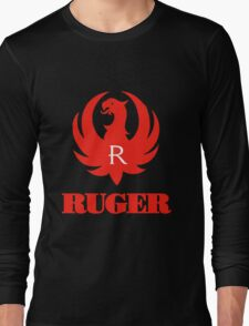 ruger red logo Long Sleeve T-Shirt