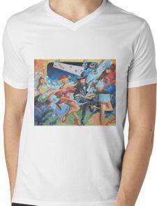 subway Mens V-Neck T-Shirt